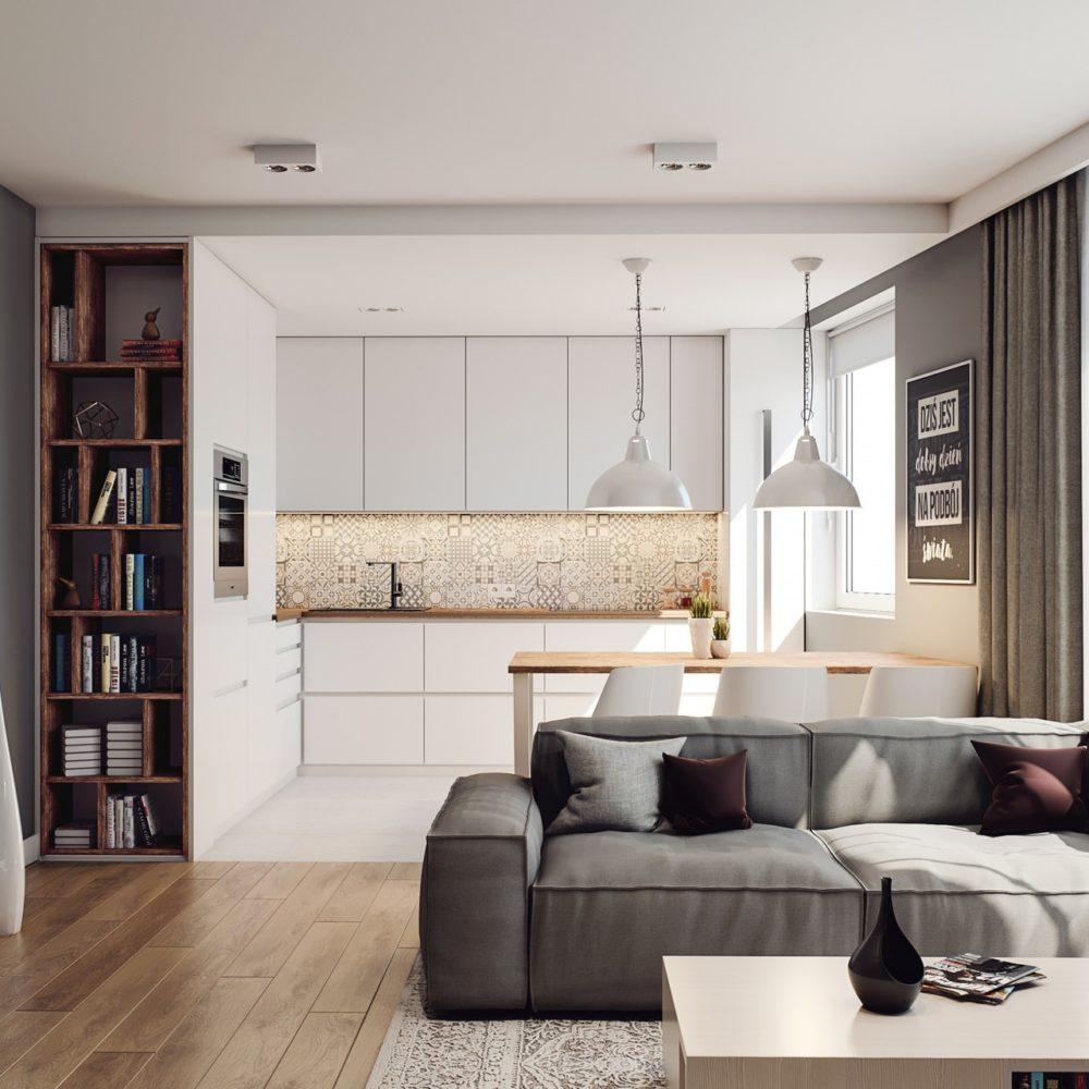 wizualizacja salon projekt mieszkania śląsk Katowice