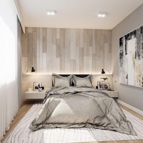 wnętrze sypialni projekt śląskie