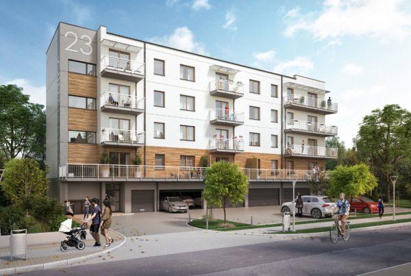 Budynek mieszkalny wielorodzinny wizualizacje architektoniczne śląsk architekt