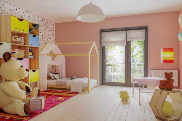 koncepcja sypialni dziecka wizualizacja