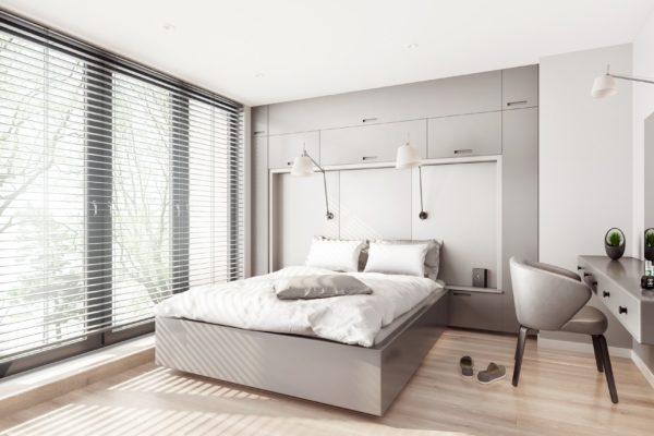 sypialnia wizualizacja architektoniczna aranżacja