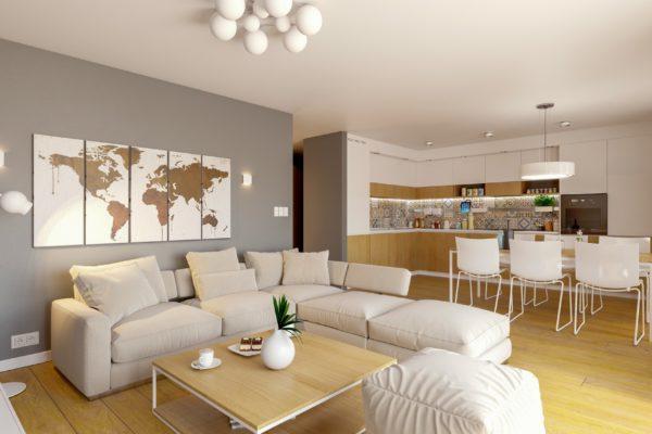 salon drewno projekt wizualizacje śląsk