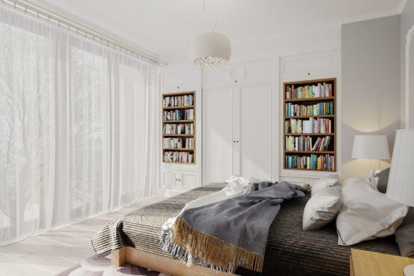 sypialnia wizualizacja architektoniczna czeladź