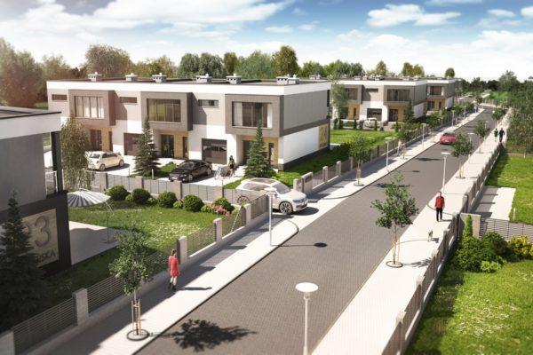 osiedle domów w zabudowie szeregowej projekt śląsk