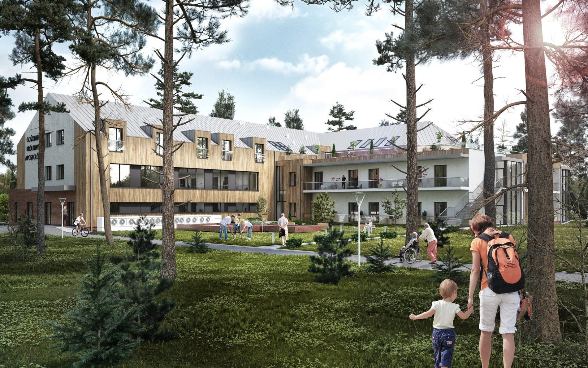 wizualizacja 3d architektoniczna hotel śląsk