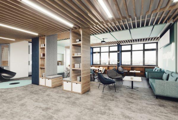biuro wnętrze aranżacja wizualizacja