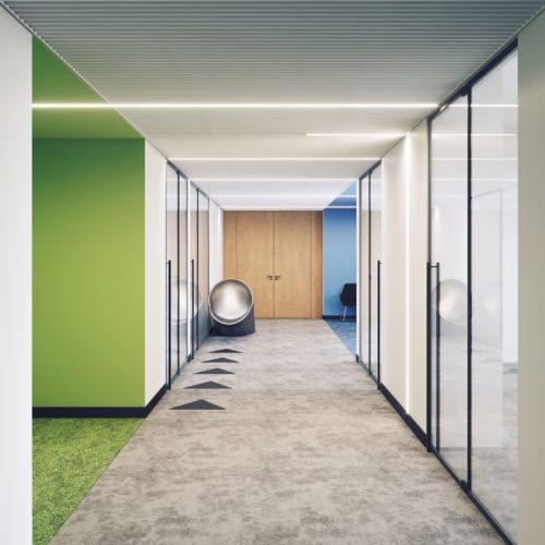 wizualizacja wnętrza biura Śląsk