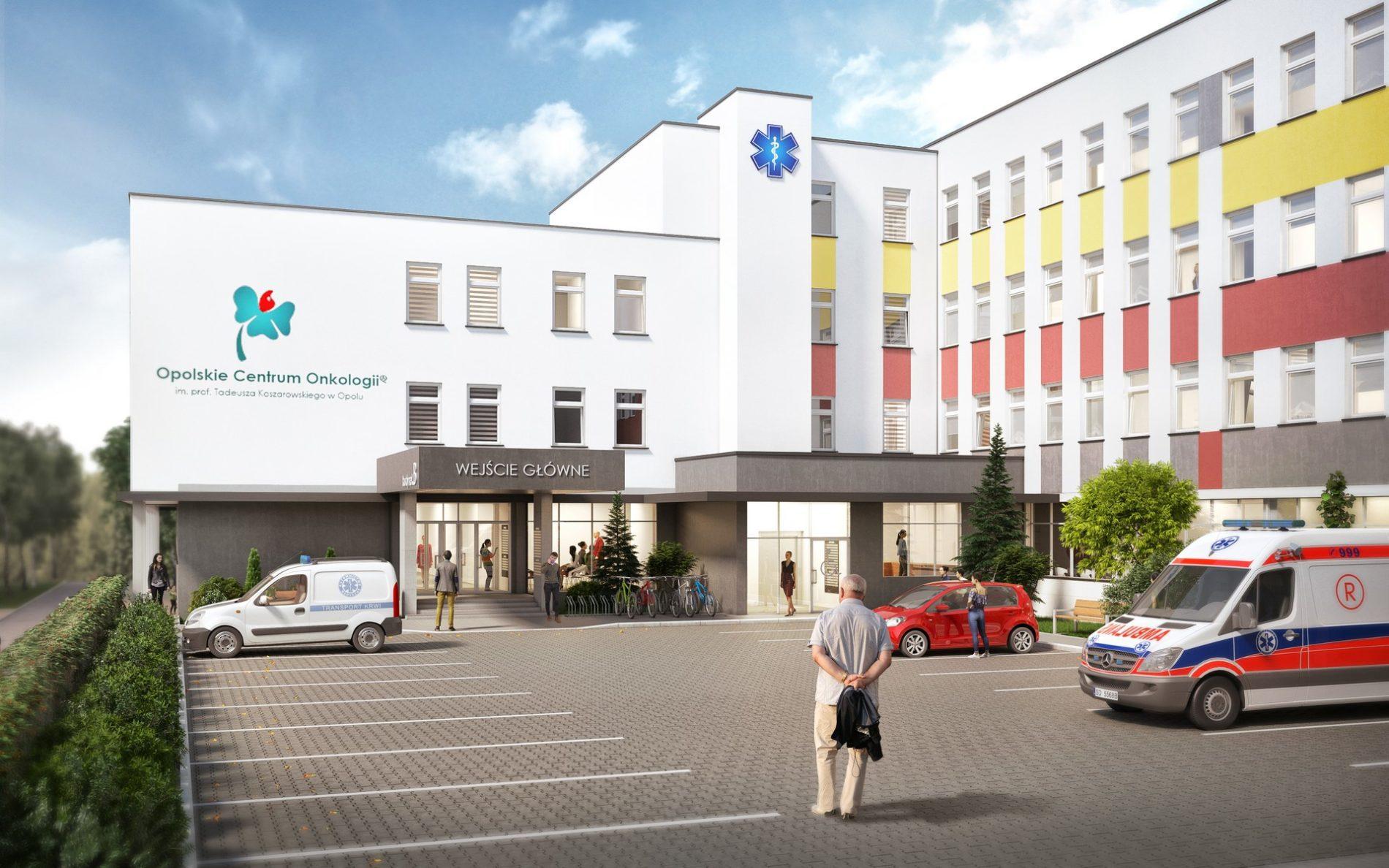 wizualizacja 3d rozbudowy budynku szpitala miejskiego w Opolu
