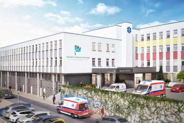 wizualizacja rozbudowy szpitala onkologicznego