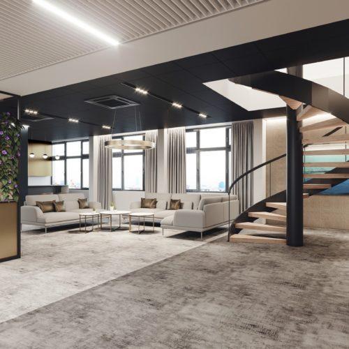 wizualizacja wnętrza komercyjnego aranżacja biura