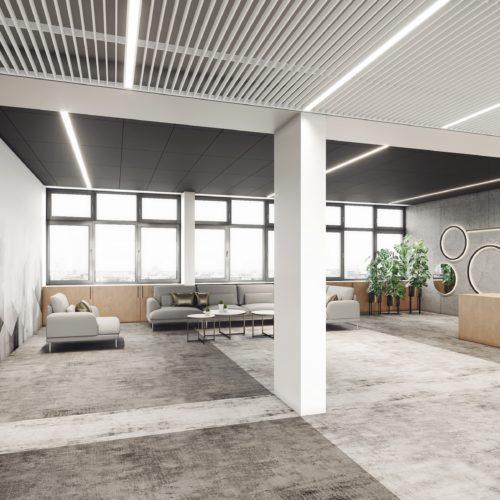 wizualizacje 3d aranżacja wnętrza biurowego Śląskie