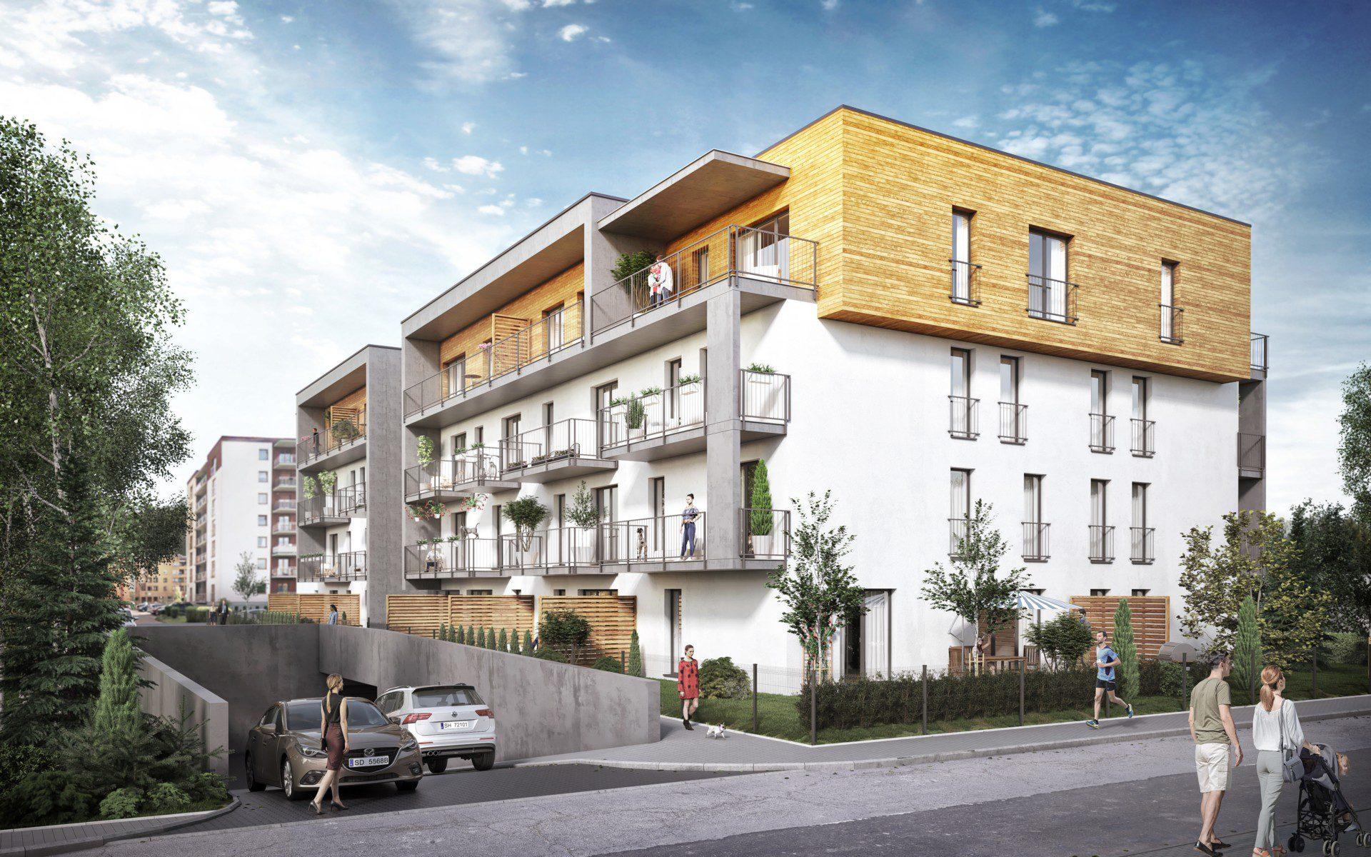 Budynek wielorodzinny mieszkalny w Dąbrowie Górniczej wizualizacje