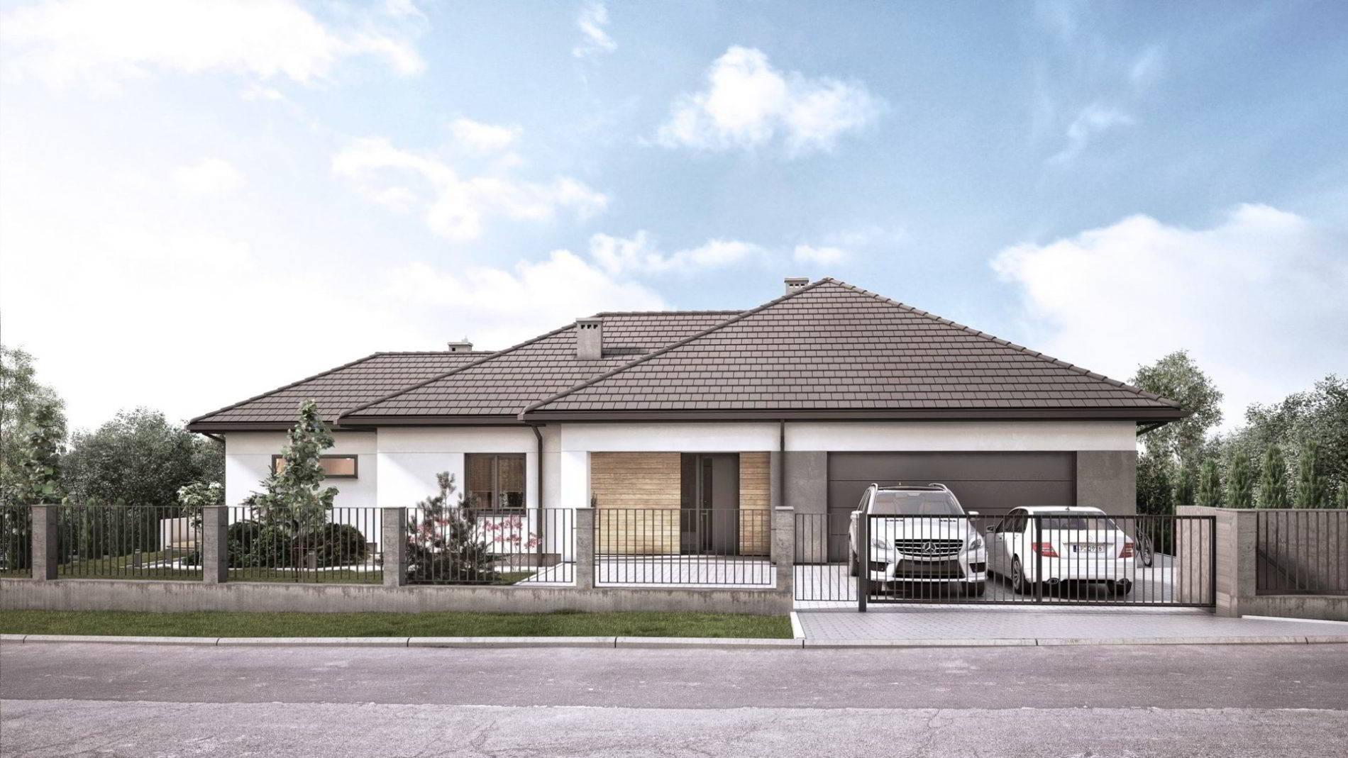 Parterowy dom jednorodzinny z piwnicą projekt architektoniczny
