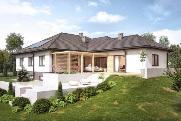 projekt domu jednorodzinnego parterowego willa w Jaworznie