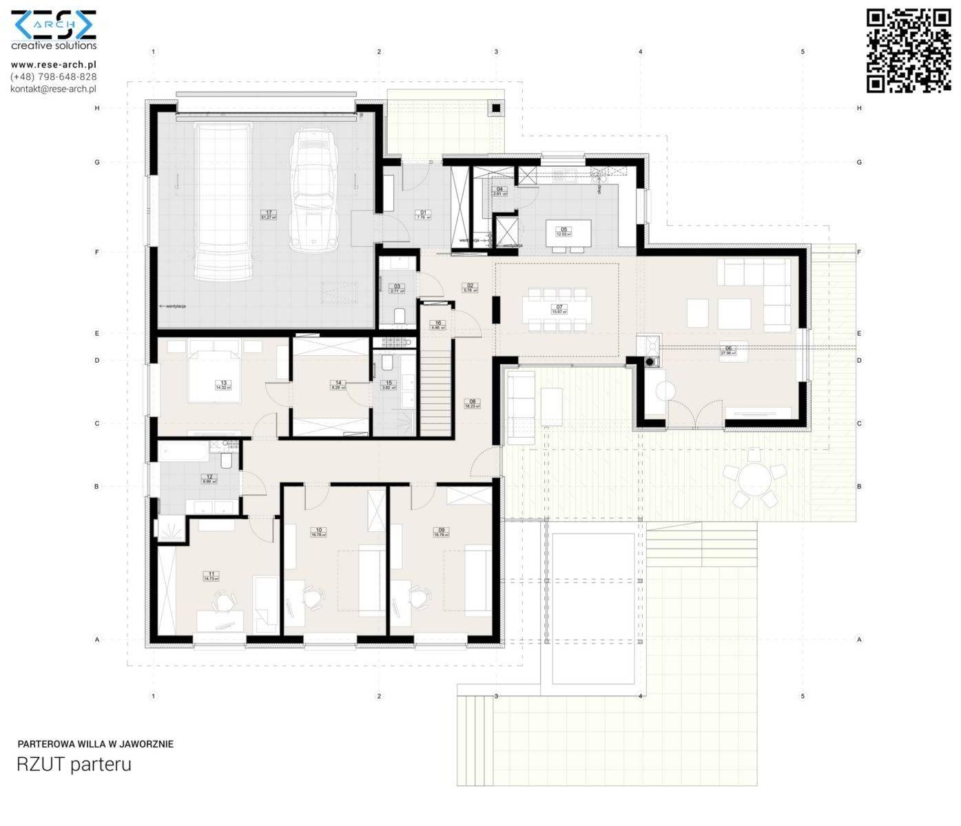 Projekt domu jednorodzinnego parterowego śląsk architekt