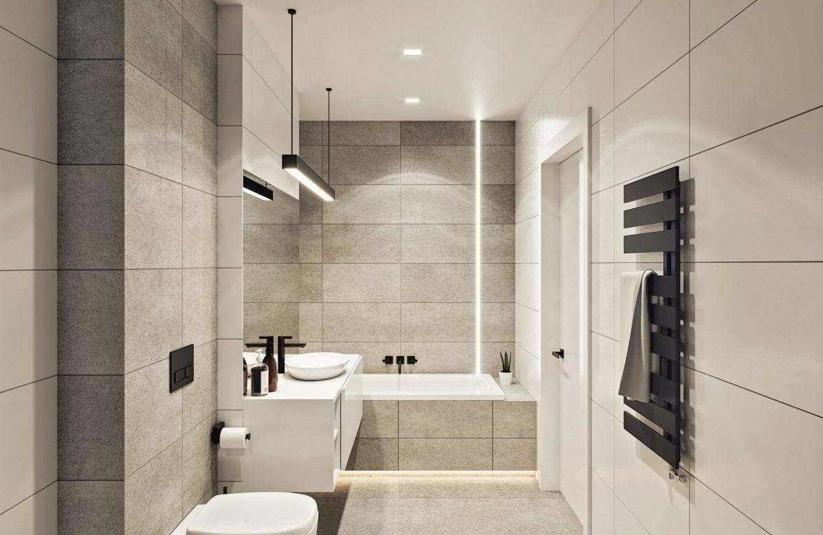 łazienka - wizualizacje wnętrza - pakiet deweloperski