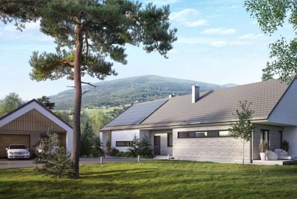 nowoczesna stodoła projekt indywidualny domu jednorodzinnego architekt