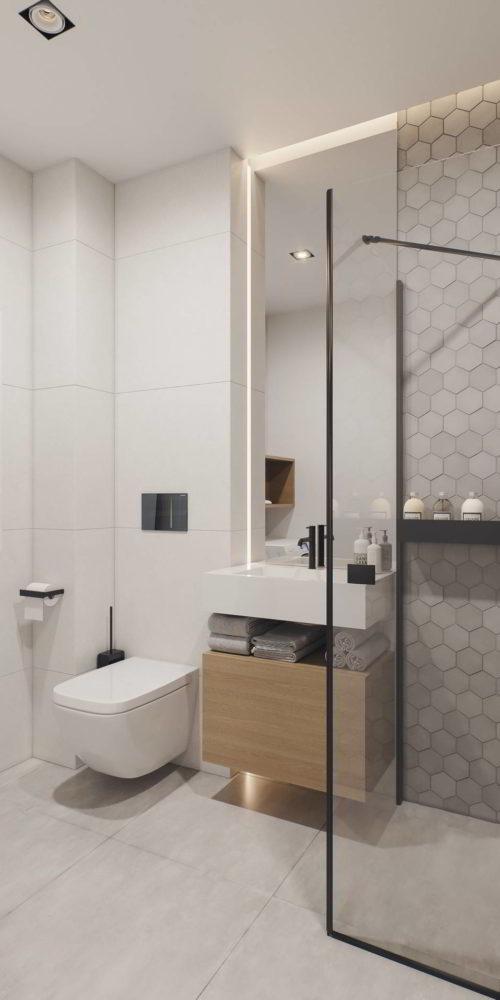 wizualizacja 3d łazienki pakiet deweloperski