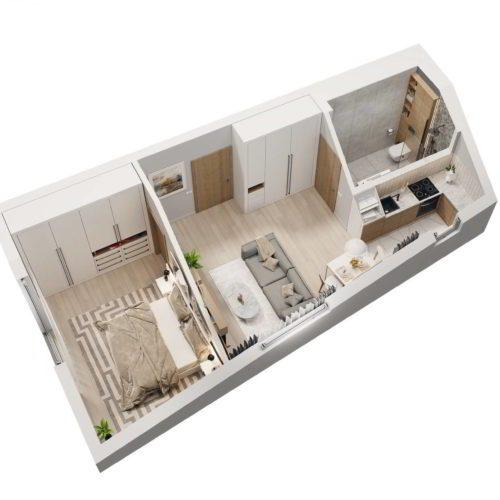 wizualizacja przykładowego mieszkania pakiet deweloperski Chorzów