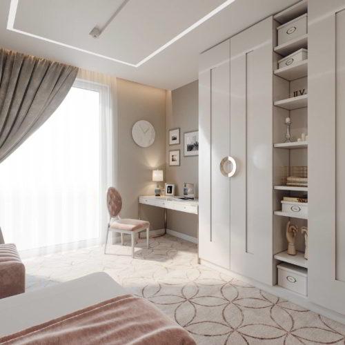 sypialnia projekt wizualizacja architekt