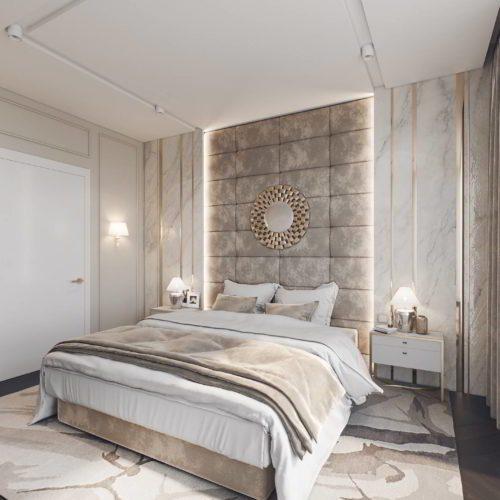 wizualizacja sypialnia architekt