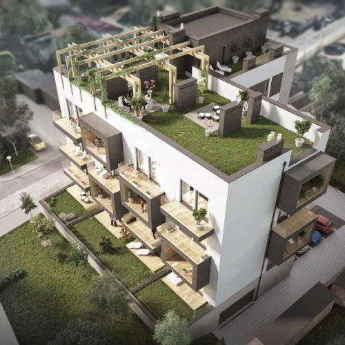 fotorealistyczna wizualizacja budynku mieszkalnego wielorodzinnego w Chorzowie