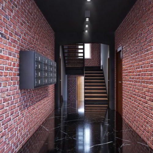projekt przebudowy klatki schodowej w kamienicy mieszkalnej w Katowicach architekt