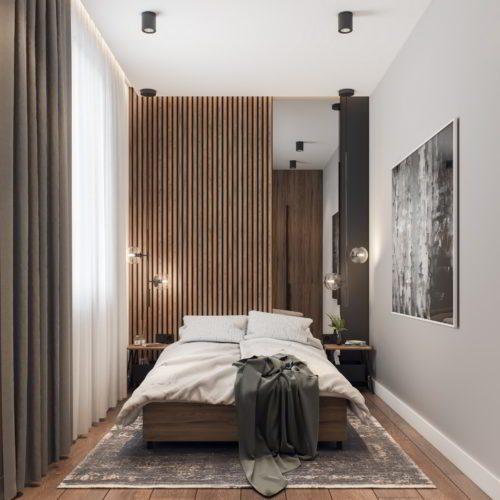 sypialnia architekt Śląsk Katowice projekt wizualizacja