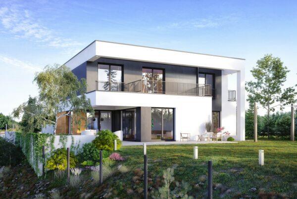 Projekt indywidualny dom z płaskim dachem Śląsk